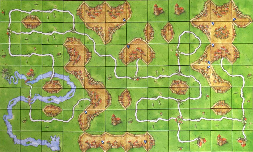Peter Norvig's Carcassonne 'Urban Challenge' result